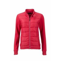 J&N Hybrid Sweat cipzáras női pulóver, piros S