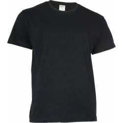 Keya MC180 kereknyakú póló, fekete 3XL