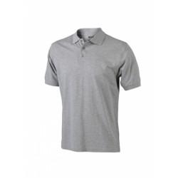 J&N Classic galléros póló, szürke S