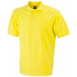 J&N Classic galléros póló, sárga L