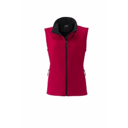 J&N Promo női softshell mellény, piros XXL