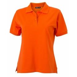 J&N Classic női galléros póló, narancssárga XL
