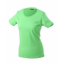 J&N Ladies' Basic-T női póló, zöld M
