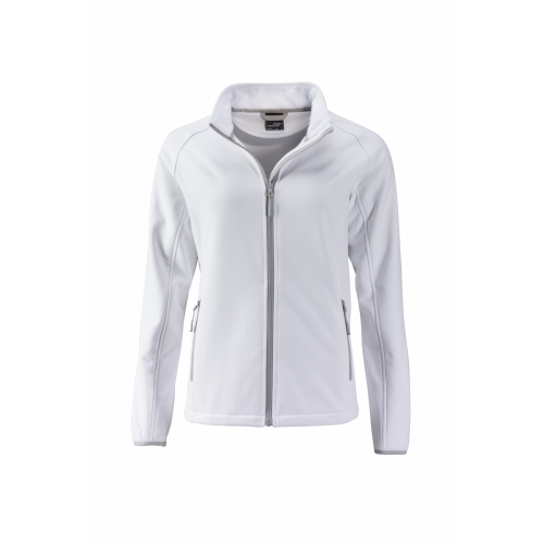 a359fbb64a J&N Promo női softshell dzseki, fehér M - Poloemblémázás.hu