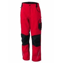 J&N Workwear derekas nadrág, piros 26