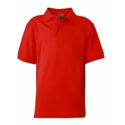 J&N Classic női galléros póló, piros XL