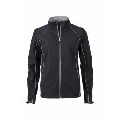 J&N Zip-Off női softshell dzseki, fekete L