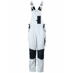 J&N Workwear kantáros nadrág, fehér 58