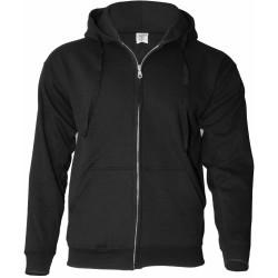 Keya SWZ280 Hooded Zip kapucnis pulóver, fekete XXL