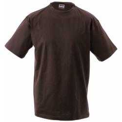 J&N Round-T-Medium kereknyakú póló, barna XL