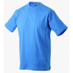 J&N Round-T Heavy kereknyakú póló, kék 5XL