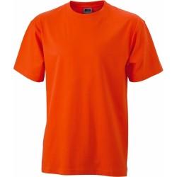 J&N Round-T Heavy kereknyakú póló, narancssárga S