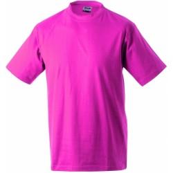 J&N Round-T Heavy kereknyakú póló, rózsaszín 3XL