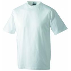 J&N Round-T Heavy kereknyakú póló, fehér 5XL