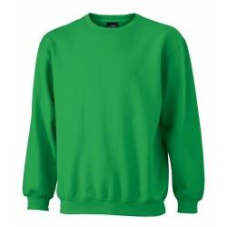 J&N Round Heavy pulóver, zöld M