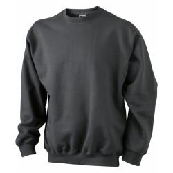 J&N Round Heavy pulóver, szürke 5XL
