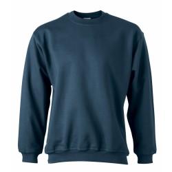 J&N Round Heavy pulóver, kék 5XL