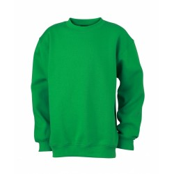 J&N Round Heavy Junior gyermek pulóver, zöld XXL