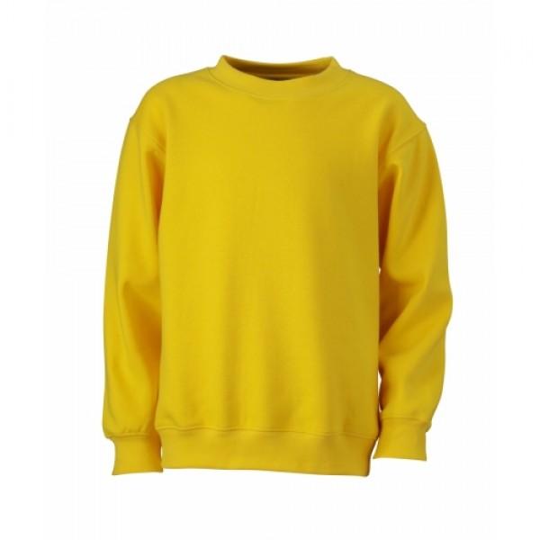 48cfd14bf6 J&N Round Heavy Junior gyermek pulóver, sárga XS - Poloemblémázás.hu
