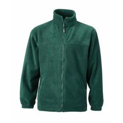 J&N Full-Zip gyermek polár pulóver, zöld M