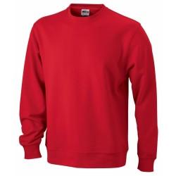 Basic Sweat pamut pulóver, piros M