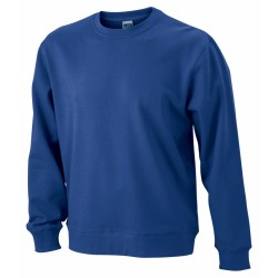 Basic Sweat pamut pulóver, kék M