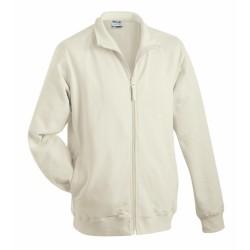 Sweat Jacket pamut pulóver, szürke XXL