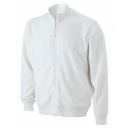 Sweat Jacket pamut pulóver, fehér XL