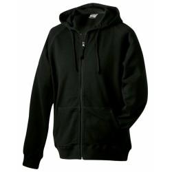J&N Hooded Jacket pamut pulóver, fekete S