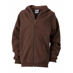 J&N Hooded Jacket Junior pamut pulóver, barna L