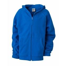 J&N Hooded Jacket Junior pamut pulóver, kék XL