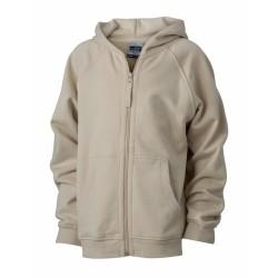 J&N Hooded Jacket Junior pamut pulóver, szürke XS