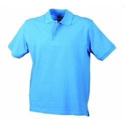 J&N Classic Junior gyermek galléros póló, kék M