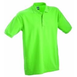 J&N Classic Junior gyermek galléros póló, zöld M