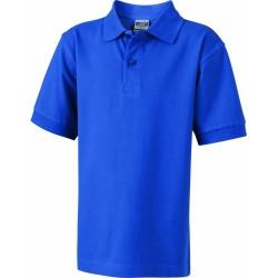 J&N Classic Junior gyermek galléros póló, kék XXL