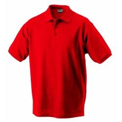 J&N Classic Junior gyermek galléros póló, piros XL