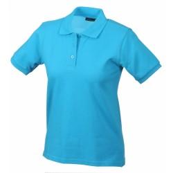 J&N Classic női galléros póló, kék XXL