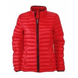 J&N Ladies' Quilted Down dzseki, piros M