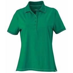 J&N Ladies' Elastic Polo női galléros póló, zöld XL