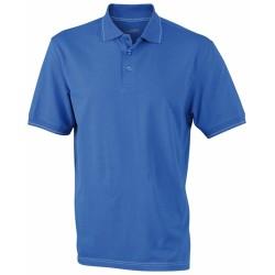 J&N Men's Elastic Polo galléros póló, kék M
