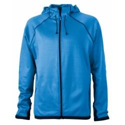 J&N Hooded Fleece kapucnis pulóver, kék XL