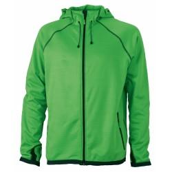 J&N Hooded Fleece kapucnis pulóver, zöld L