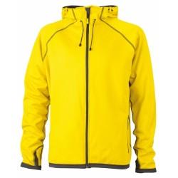 J&N Hooded Fleece kapucnis pulóver, sárga XL