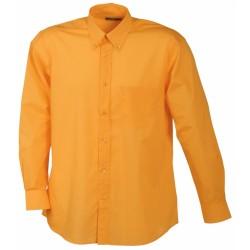 J&N Promotion hosszú ujjú férfi ing, narancssárga XL