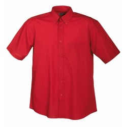 J&N Promotion rövid ujjú férfi ing, piros XXL