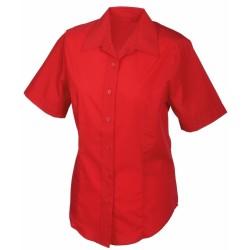 J&N Promotion rövid ujjú női blúz, piros XS