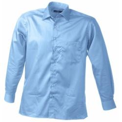 J&N Business hosszú ujjú férfi ing, kék XXL
