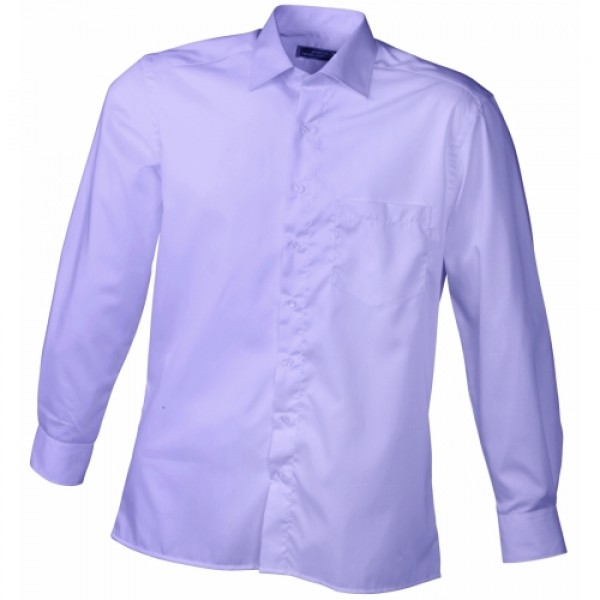 eabf1ea448 J&N Business hosszú ujjú férfi ing, lila 3XL - Poloemblémázás.hu
