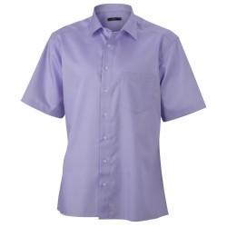 J&N Business rövid ujjú férfi ing, lila XL