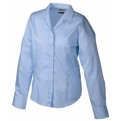 J&N Business hosszú ujjú női blúz, kék XXL